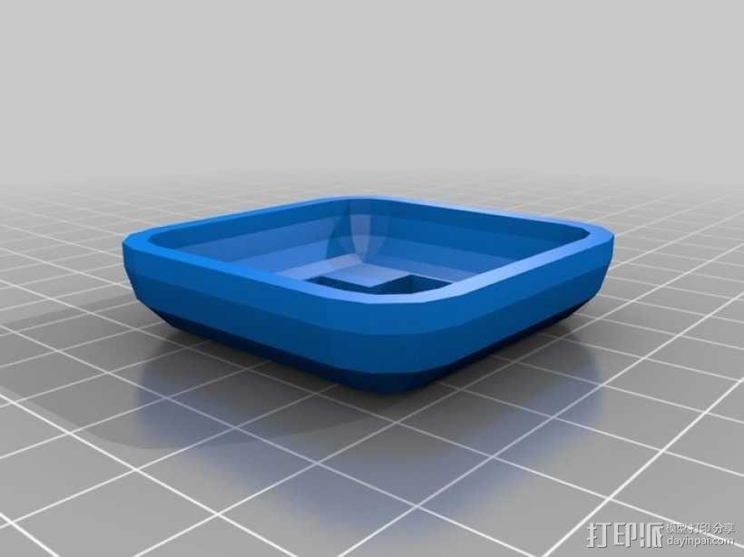 瞬时开关控制键外壳模型 3D模型  图4