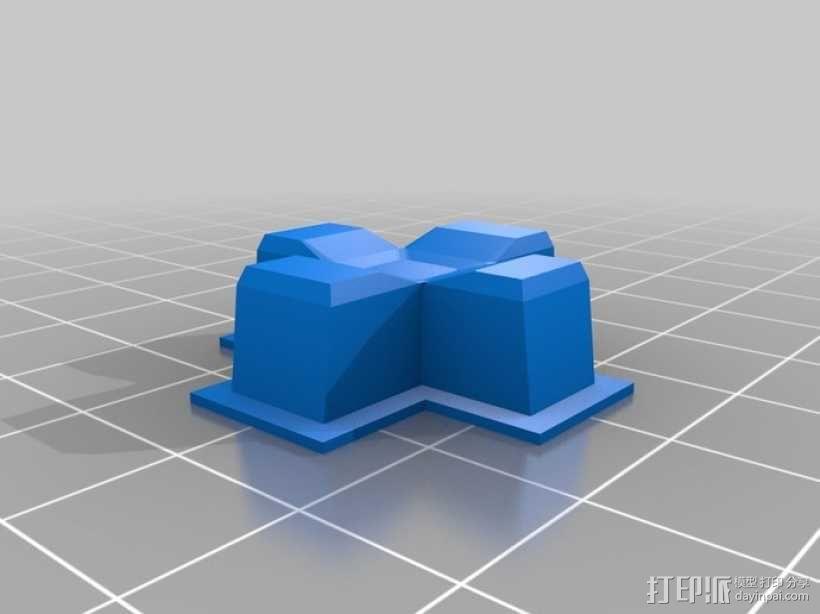 瞬时开关控制键外壳模型 3D模型  图3