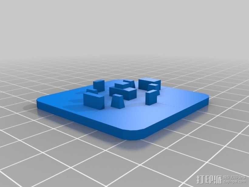 瞬时开关控制键外壳模型 3D模型  图2