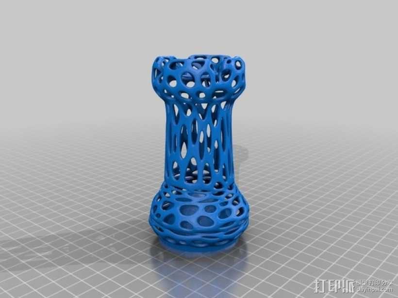 泰森多边形镂空象棋 3D模型  图6