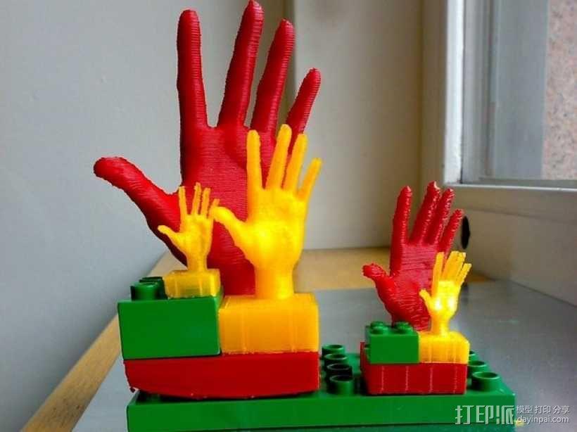 得宝手形玩具方块模型 3D模型  图1