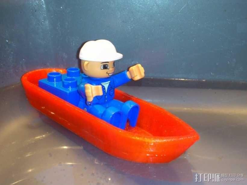 迷你得宝玩具船模型 3D模型  图1