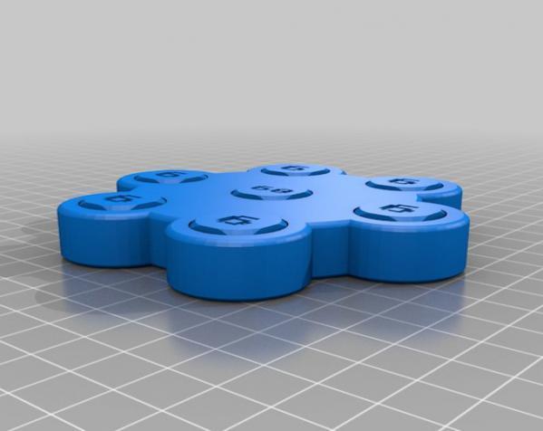 双色骰子游戏模型 3D模型  图3