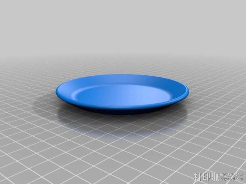 迷你平底锅模型 3D模型  图3
