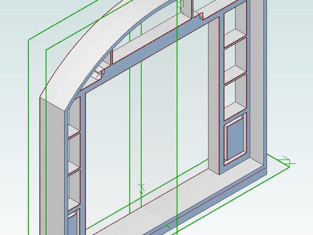 乐高现代风格的迷你门模型 3D模型  图2