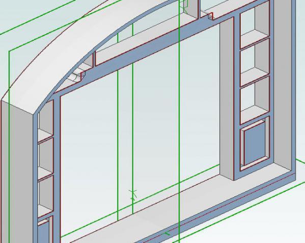 乐高现代风格的迷你门模型 3D模型  图6