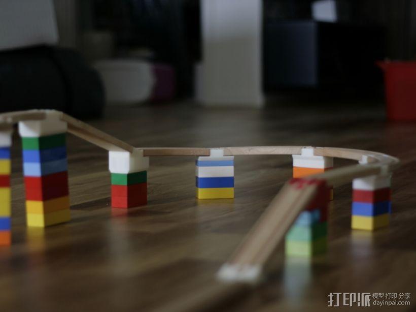 玩具火车桥梁支座模型 3D模型  图1