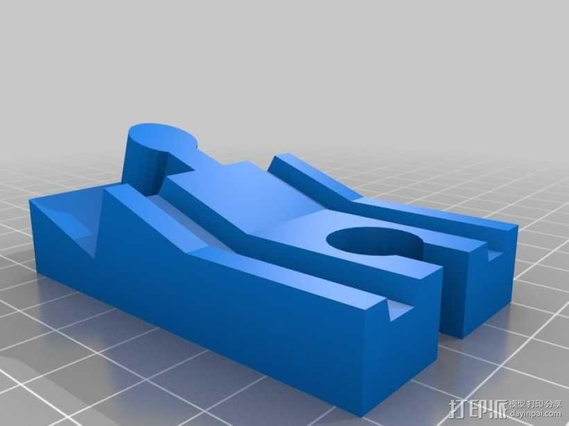 玩具火车桥梁支座模型 3D模型  图5