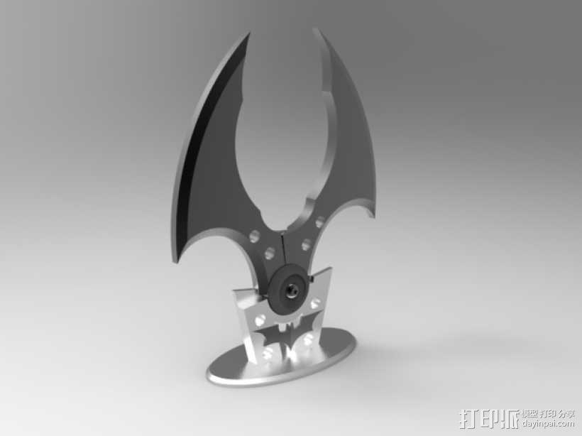 个性化蝙蝠镖模型 3D模型  图1