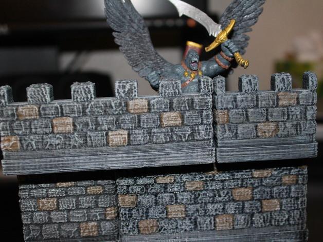 OpenForge雉堞围墙 3D模型  图2