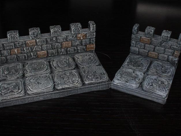 OpenForge雉堞围墙 3D模型  图3
