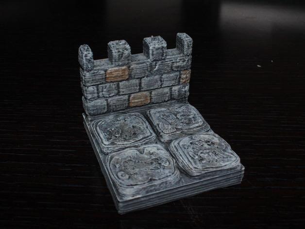 OpenForge雉堞围墙 3D模型  图4