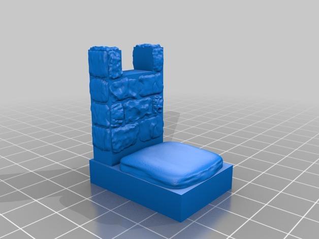 OpenForge雉堞围墙 3D模型  图5