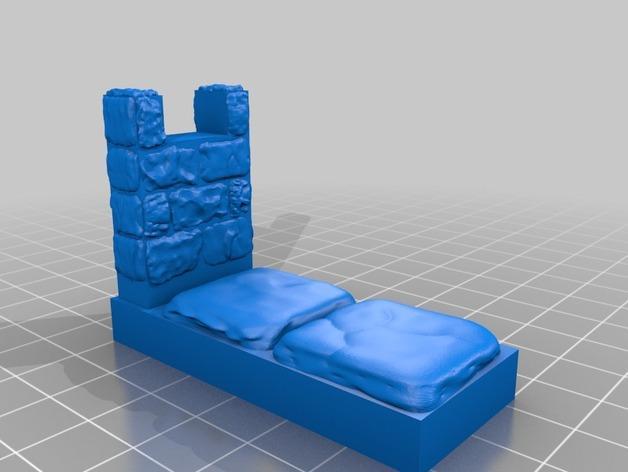 OpenForge雉堞围墙 3D模型  图6