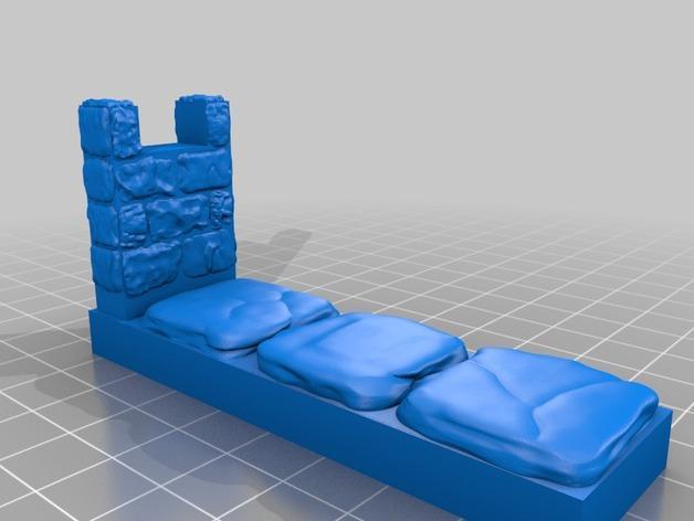 OpenForge雉堞围墙 3D模型  图7