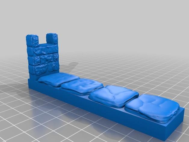 OpenForge雉堞围墙 3D模型  图8