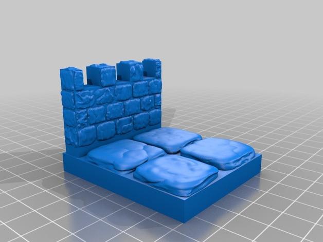 OpenForge雉堞围墙 3D模型  图10