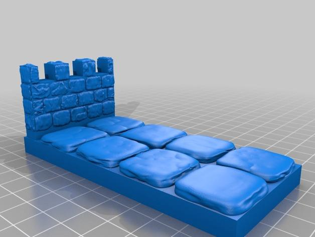 OpenForge雉堞围墙 3D模型  图12