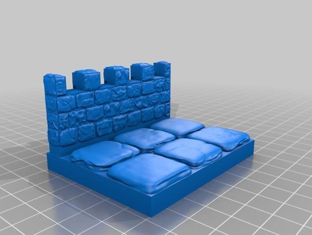OpenForge雉堞围墙 3D模型  图14