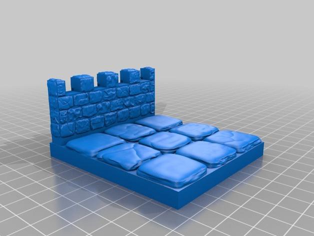 OpenForge雉堞围墙 3D模型  图15