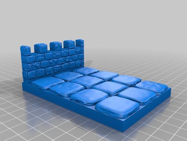 OpenForge雉堞围墙 3D模型  图16