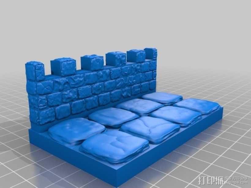 OpenForge雉堞围墙 3D模型  图18