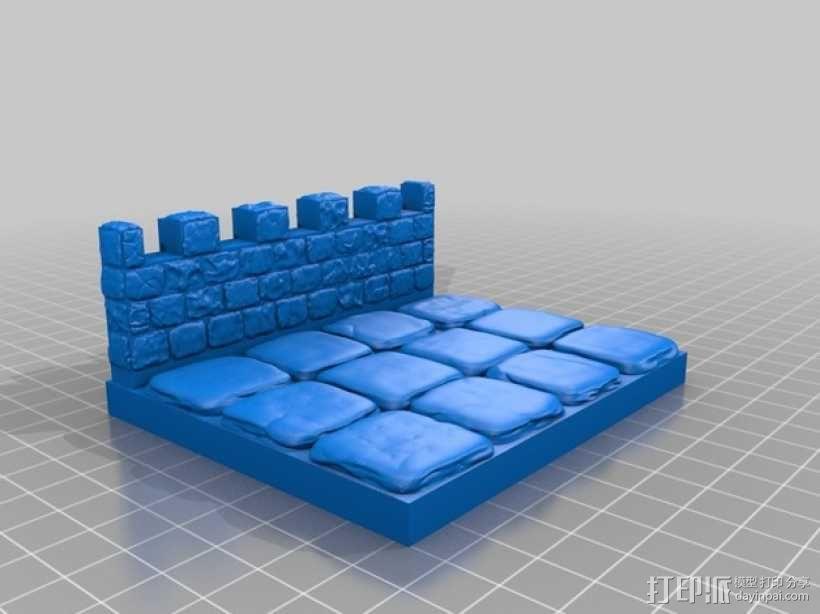 OpenForge雉堞围墙 3D模型  图19