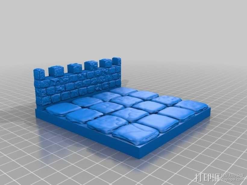 OpenForge雉堞围墙 3D模型  图20