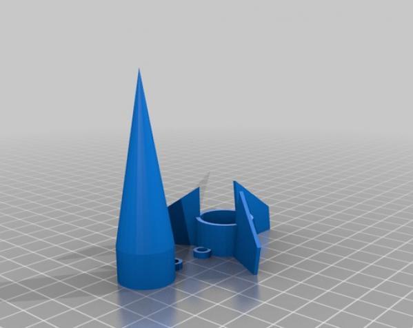迷你玩具火箭模型 3D模型  图5