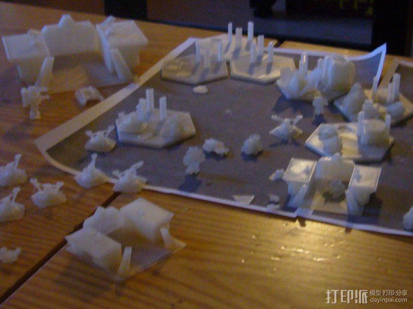 迷你桌游基地模型 3D模型  图1