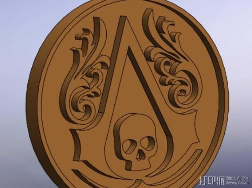 《刺客信条》标志模型 3D模型  图1
