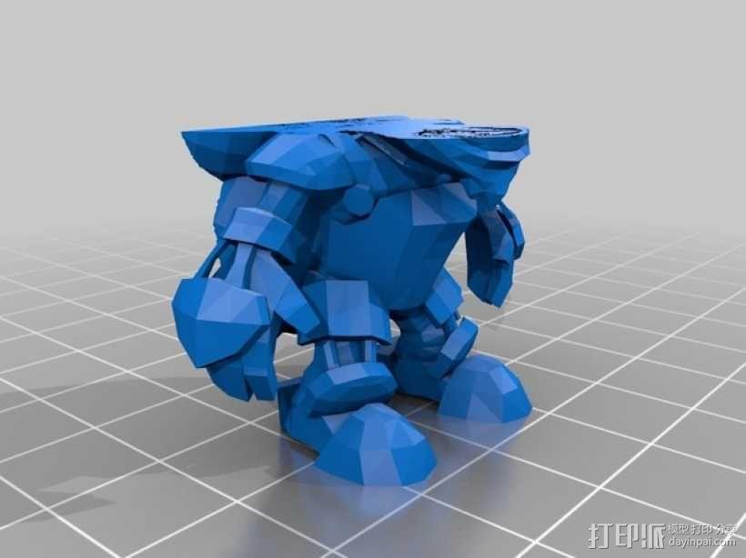 英雄联盟:玩炸弹的约德尔人Ziggs 3D模型  图3