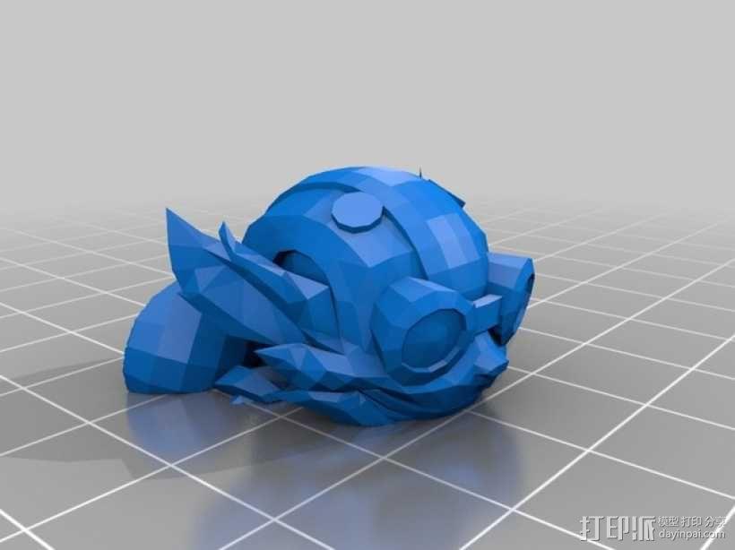 英雄联盟:玩炸弹的约德尔人Ziggs 3D模型  图4