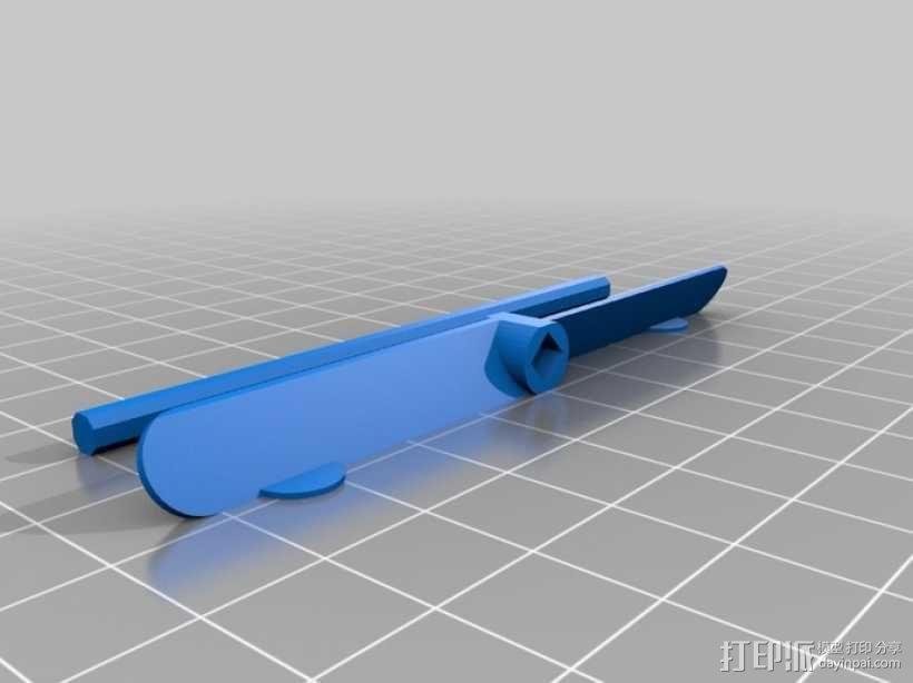 参数化竹蜻蜓模型 3D模型  图1