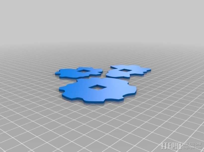 会写中国字的Automa-te机械手臂 3D模型  图2
