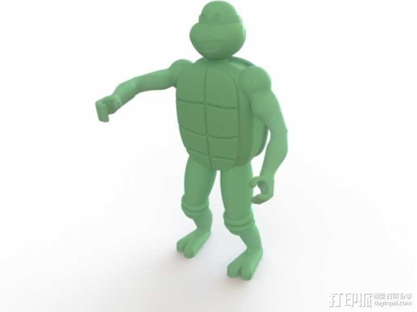 迷你忍者神龟模型 3D模型  图1