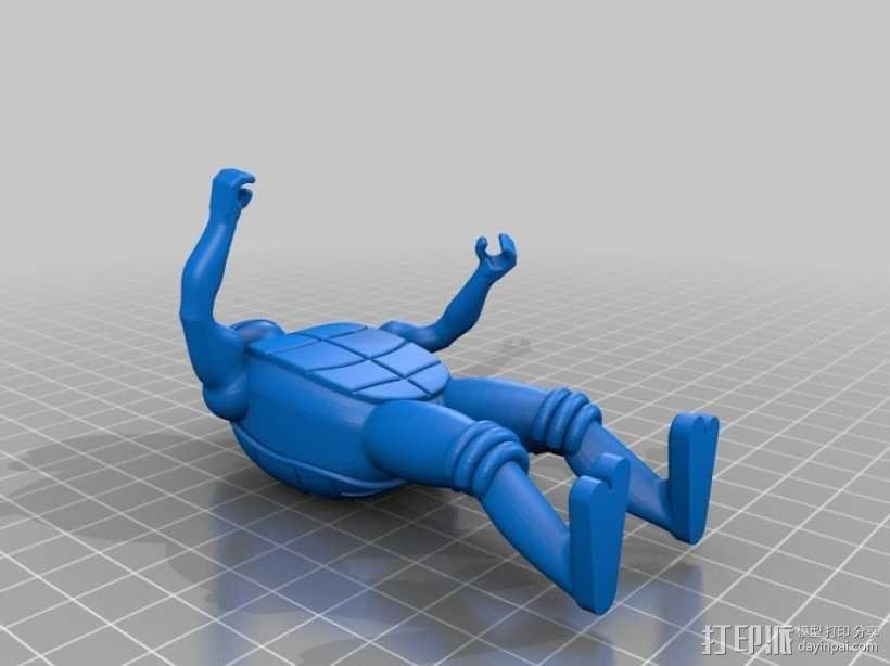 迷你忍者神龟模型 3D模型  图2
