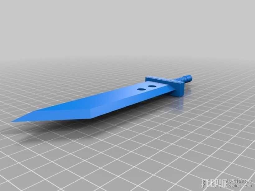 破坏之剑 3D模型  图3