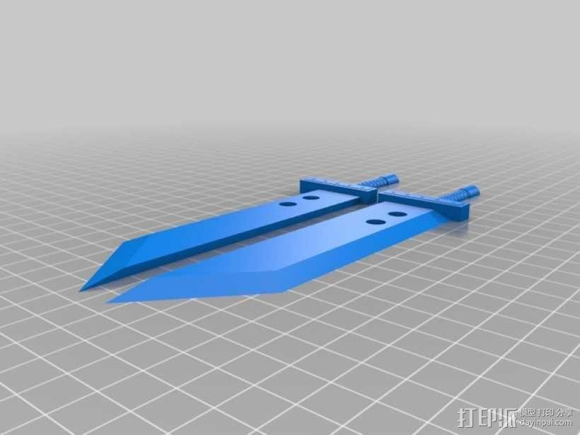 破坏之剑 3D模型  图2