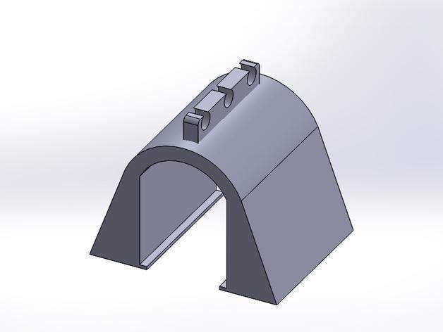HO玩具火车隧道模型 3D模型  图1