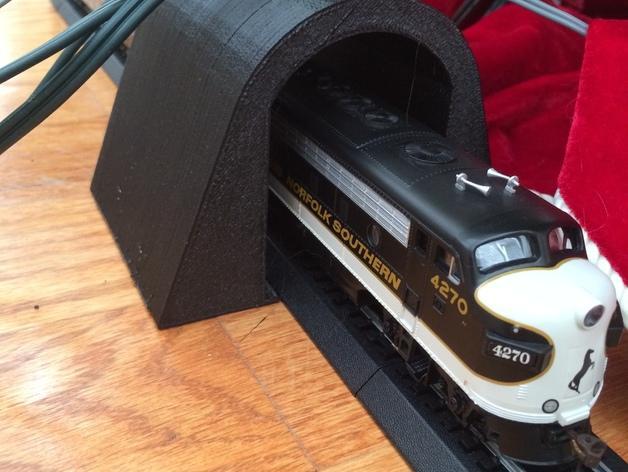 HO玩具火车隧道模型 3D模型  图2