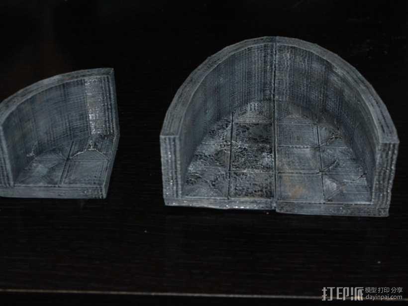 OpenForge弧形墙壁模型 3D模型  图1