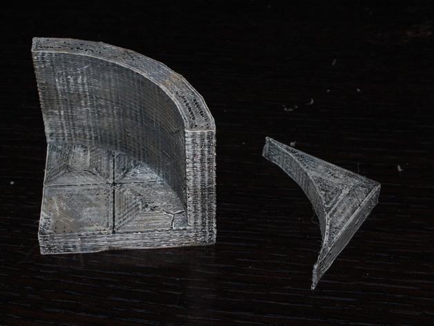 OpenForge弧形墙壁模型 3D模型  图3