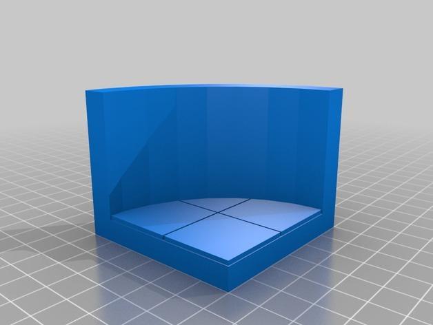 OpenForge弧形墙壁模型 3D模型  图14