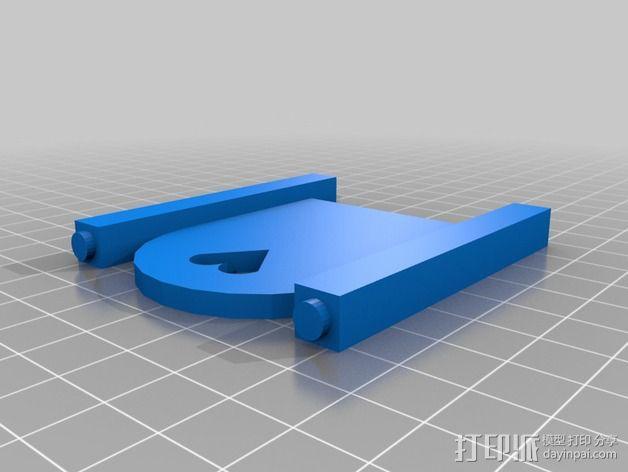 迷你玩偶床模型 3D模型  图2