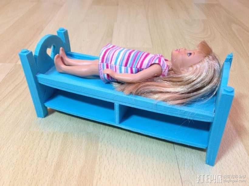 迷你玩偶床模型 3D模型  图1