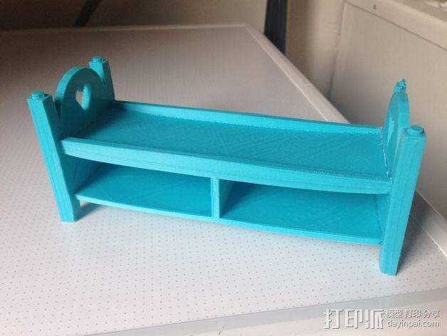 迷你玩偶床模型 3D模型  图5