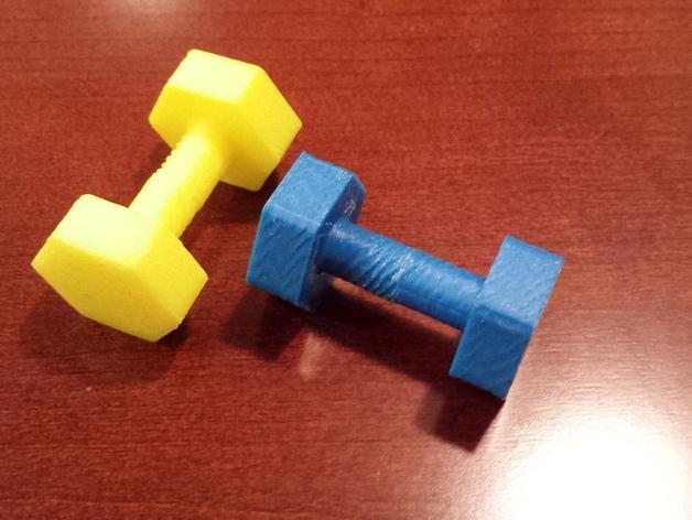 迷你哑铃模型 3D模型  图1