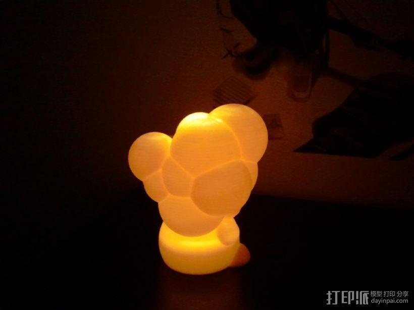 迷你彩色灯罩blop 3D模型  图1