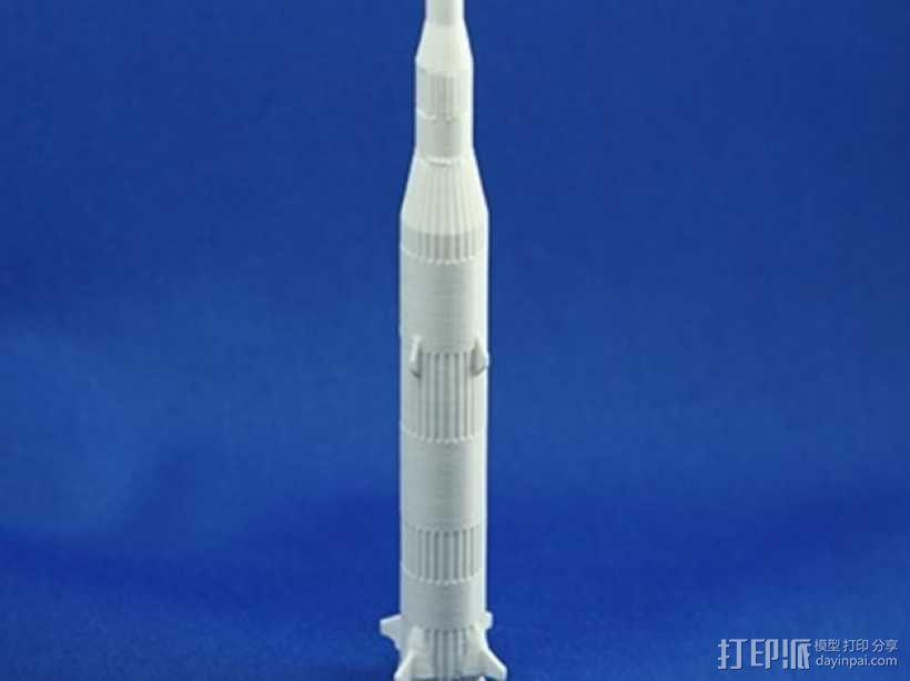 迷你土星太空火箭模型 3D模型  图3